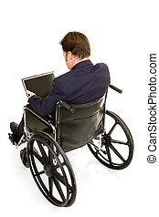 Disabled Businessman Rear View