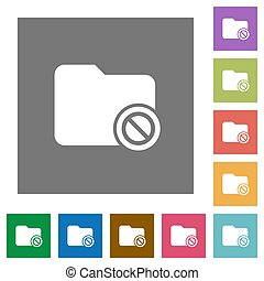 Disabled directory square flat icons