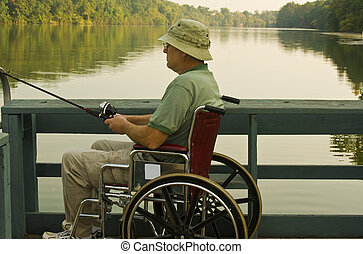 disabled fisherman