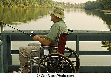 disabled fisherman