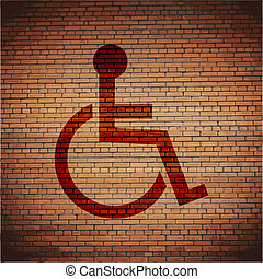 disabled. Flat modern web button and space for your text. .