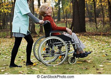 disabled, gammelagtig