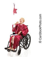 Disabled Graduate Tosses Cap