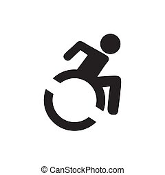 Disabled Handicap Icon isolated on white background