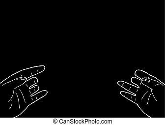 Disabled Hands On Black Background