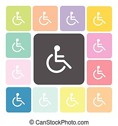disabled Icon color set vector illustration