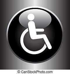 Disabled icon on black button