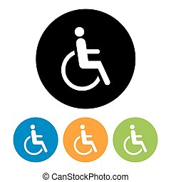 Disabled icon sign.