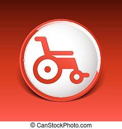 disabled icon sign vector wheelchair handicap symbol