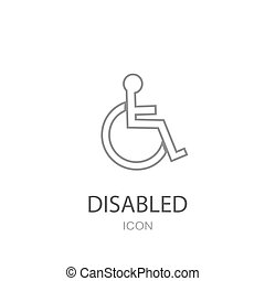 Disabled icon vector.