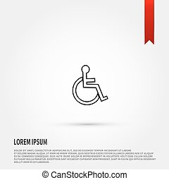 Disabled icon. Vector illustration.