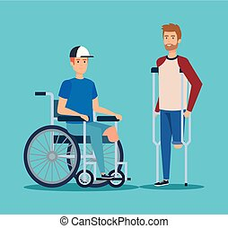 disabled men with physical injury rehabilitation