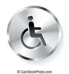Disabled metal icon button.
