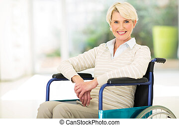 disabled middle aged woman