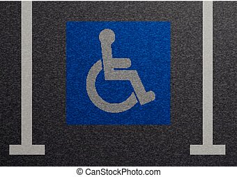 Disabled Parking Lot