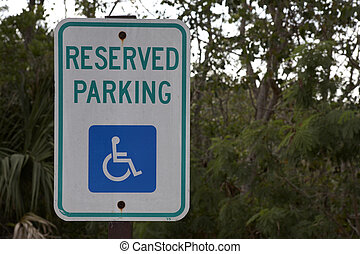 disabled parking sig