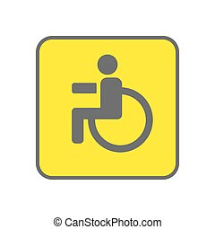 Disabled Person vector icon