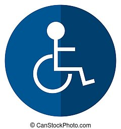 disabled person wheelchair sign road shadow
