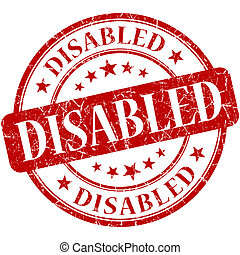 Disabled Red stamp