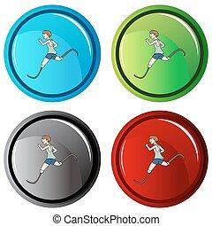 Disabled Runner Button - An image of a disabled runner...
