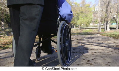 disabled senior in wheelchair