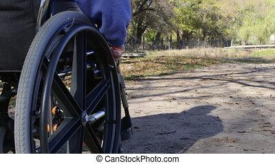 Disabled senior person