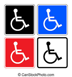 disabled SET signs - Disabled sign. Handicapped person icons...