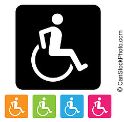 disabled sign - disabled symbol for your design