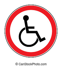 for the disabled - Disabled sign. Handicapped person icon...