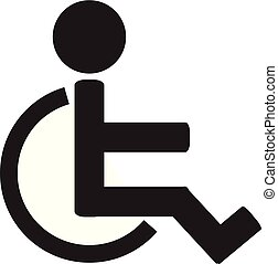 Disabled sign icon. Invalid icon. Human on wheelchair.