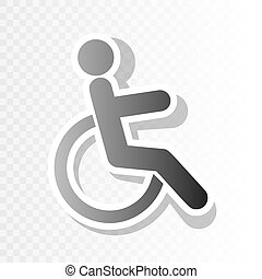 Disabled sign illustration. Vector. New year blackish icon on transparent background with transition.