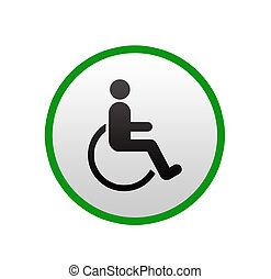 Disabled sign on white background