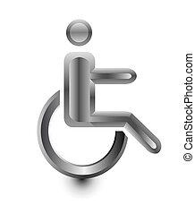 disabled Stickman in wheelchair