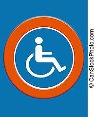Disabled symbol board