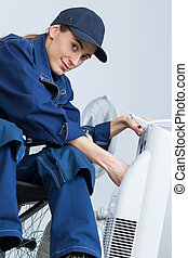 disabled technician worker