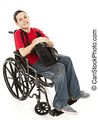 Disabled Teen Boy Full Body - Disabled teen boy in his...