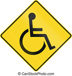 Disabled Warning Sign In Canada