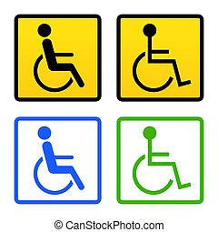 Disabled Wheelchair Sign - Universal symbol of handicapped...