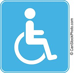 Disabled Wheelchair Sign on white