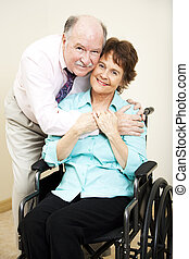 Disabled Woman and Loving Husband