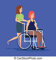 Disabled woman design