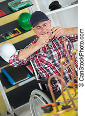 disabled worker in wheelchair