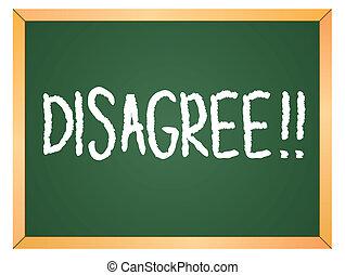 disagree word on chalkboard