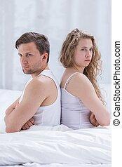 Disagreement between wife and husband