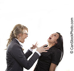 Disagreement - business professionals arguing