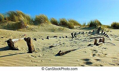 Disappearing into the Connemara beach
