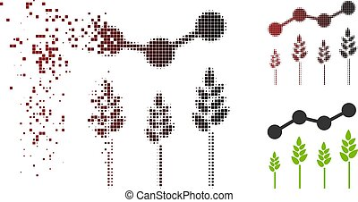 Disappearing Pixel Halftone Crop Analytics Icon