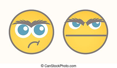 Disappointed Cartoon Smiley Vector