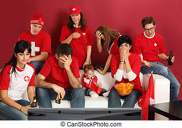 Disappointed Swiss sports fans - Photo of Swiss sports fans...