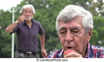Disappointment Over Alcoholic Senior Man